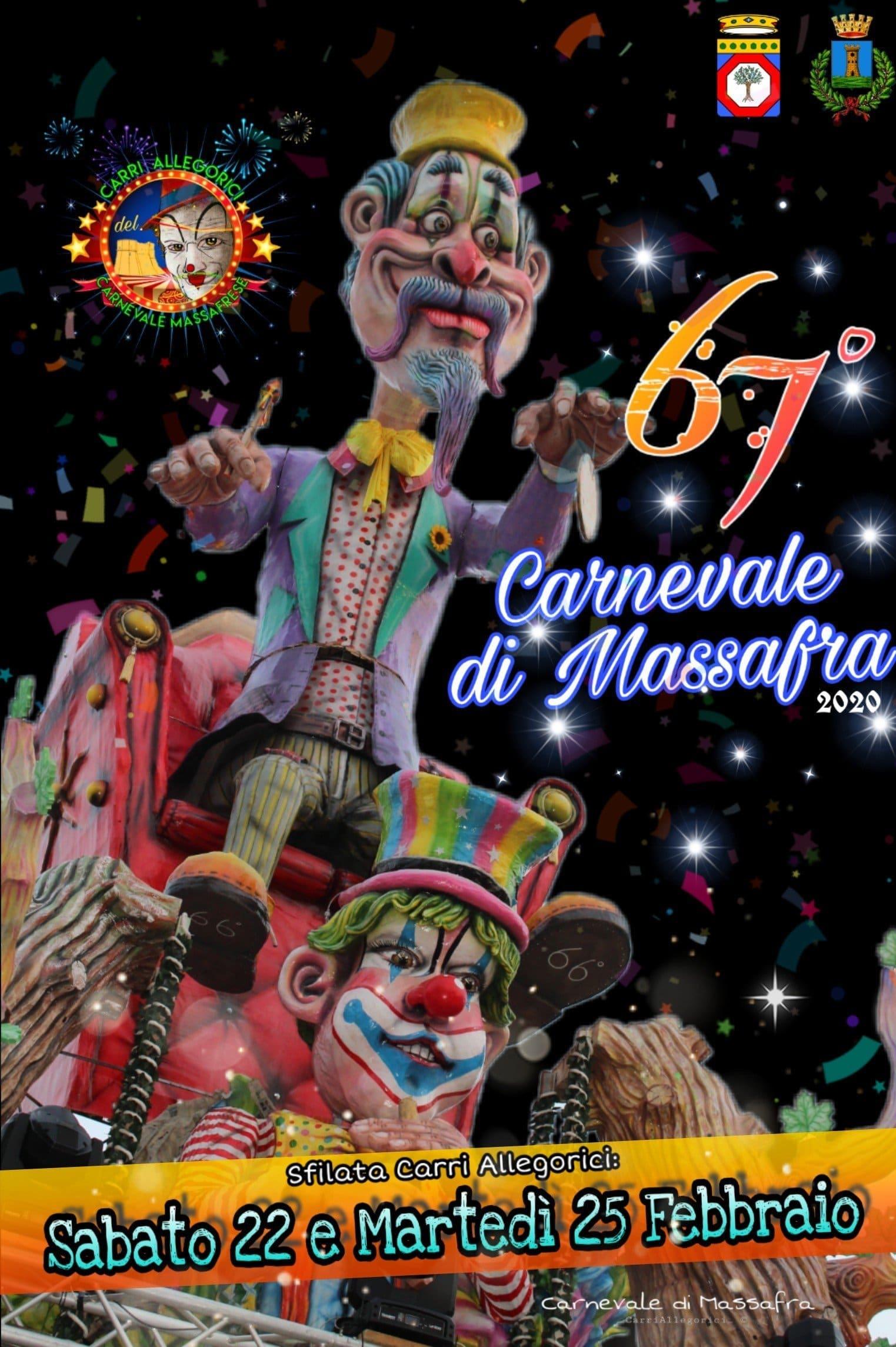 Carnevale di Massafra 2020: date e programma per i carri allegorici